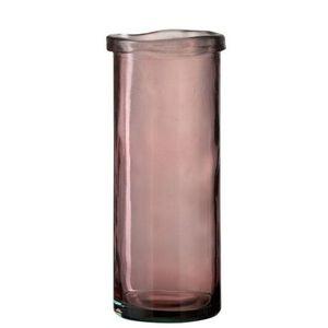 J-Line by Jolipa Růžová skleněná úzká váza Virginie - Ø 15*36 cm obraz