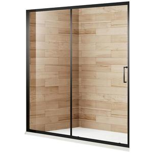 Sprchové dveře Patio 120x195 černý profil obraz