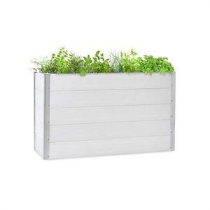 Blumfeldt Nova Grow, zahradní záhon, 150 x 91 x 50 cm, WPC, dřevěný vzhled, bílý obraz
