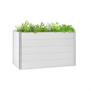 Blumfeldt Nova Grow, zahradní záhon, 150 x 91 x 100 cm, WPC, dřevěný vzhled, bílý obraz