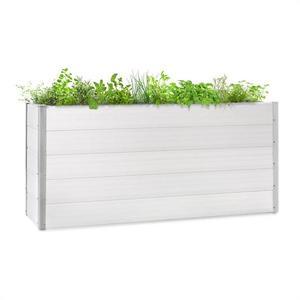 Blumfeldt Nova Grow, zahradní záhon, 195 x 91 x 50 cm, WPC, dřevěný vzhled, bílý obraz