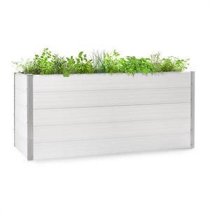Blumfeldt Nova Grow, zahradní záhon, 195 x 91 x 100 cm, WPC, dřevěný vzhled, bílý obraz