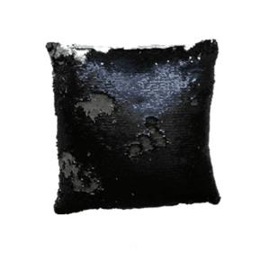 JAHU MAGIC Povlak na polštář s flitry 40 x 40 cm - černá obraz