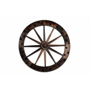 Garthen 2661 Dekorativní dřevěné kolo obraz