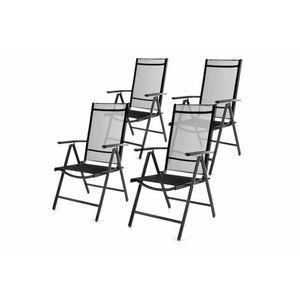 Garthen 46977 Zahradní sada 4 skládacích židlí - černá obraz