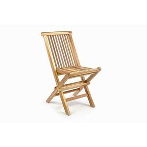 Divero 35877 Skládací dětská židle z teakového dřeva obraz