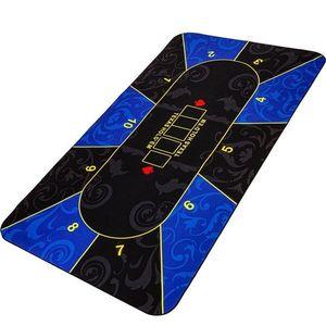Garthen Skládací pokerová podložka, modrá/černá, 200 x 90 cm obraz