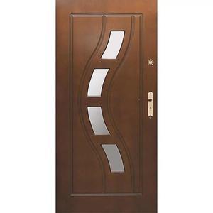 Vchodové dveře WZ 34 90L tmavy ořech dovnitř otevření obraz