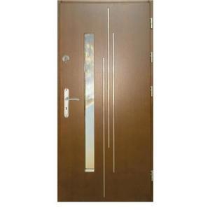 Vchodové dveře WZ 62 90P zlatý dub dovnitř otevření obraz