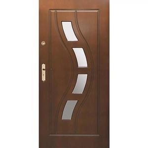 Vchodové dveře WZ 34 90P tmavy ořech otevírání ven obraz