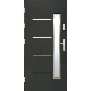 Vchodové dveře WZ 68 90L antracit otevírání ven obraz