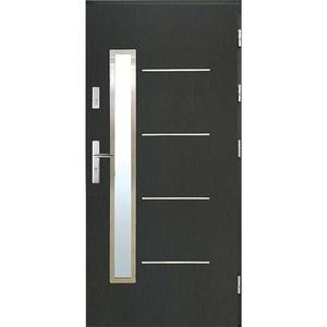 Vchodové dveře WZ 68 90P antracit otevírání ven obraz