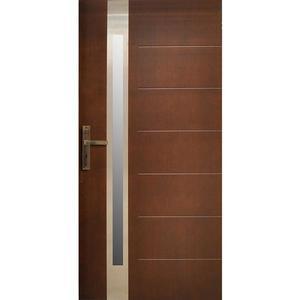 Vchodové dveře WZ 68 90P ořech 72 ZG otevírání ven obraz