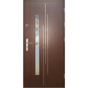 Vchodové dveře WZ 62 90P tmavý ořech dovnitř otevření obraz