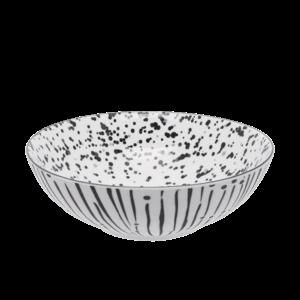 Miska na cereálie bílá / černá 17, 8 cm - Basic obraz