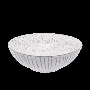 Miska na cereálie bílá / světle-šedá 17, 8 cm - Basic obraz