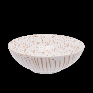 Miska na cereálie bílá / champagne 17, 8 cm - Basic obraz