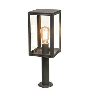 Sloupek venkovní lampy šedý 50 cm IP44 - Sutton obraz
