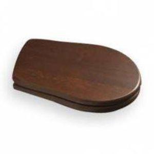 KERASAN RETRO WC sedátko, dřevo masiv, ořech/chrom 109040 obraz