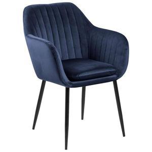 Židle S Područkami Emilia Tmavě Modrá obraz