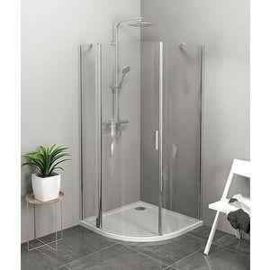 POLYSAN ZOOM LINE čtvrtkruhová sprchová zástěna 900x900mm, čiré sklo, levá ZL2615L obraz