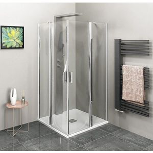 POLYSAN ZOOM LINE čtvercová sprchová zástěna 900x900mm, čiré sklo ZL5415 obraz