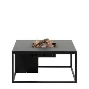 Stůl s plynovým ohništěm COSI- typ Cosiloft 100 černý rám / černá deska obraz