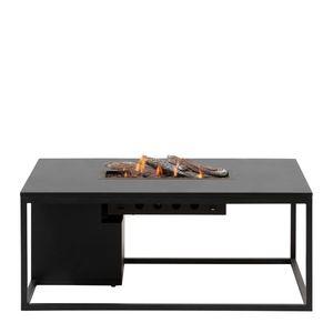 Stůl s plynovým ohništěm COSI- typ Cosiloft 120 černý rám / černá deska obraz