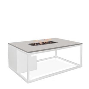 Stůl s plynovým ohništěm COSI- typ Cosiloft 120 bílý rám / deska šedá obraz