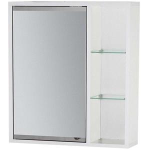 Závěsná skříňka se zrcadlem bílá Maja 50 obraz
