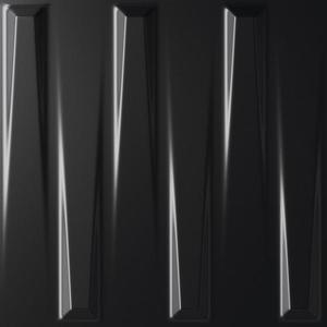 Dekor Dutton Black Satin 25/25 obraz