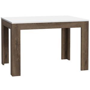 Stůl White Sea 120/148/175cm Ušlechtilý Dub/Bílý Lesk obraz