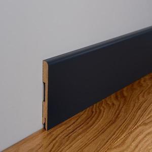 Podlahová lišta MDF Foge LB1 100 černá polmat obraz