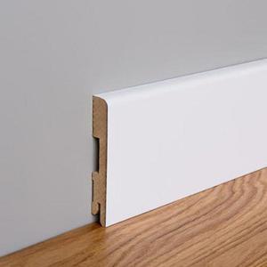 Podlahová lišta MDF Foge LB1 120 bílá polmat obraz