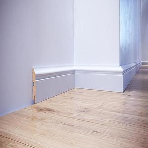 Podlahová lišta MDF Foge LB3 80 bílá polmat obraz