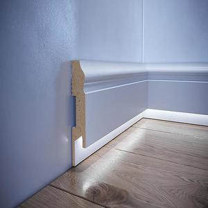 Podlahová lišta MDF Foge LED LB3 bílá polmat obraz