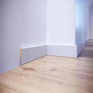 Podlahová lišta dýhovaná MDF Foge LO1 60 bílá polmat obraz