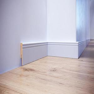 Podlahová lišta dýhovaná MDF Foge LO8 100 bílá polmat obraz