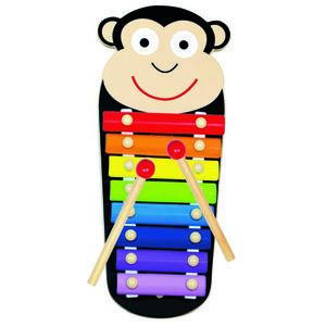 Bino Kovový xylofon Opička, 33 x 14 x 3 cm obraz