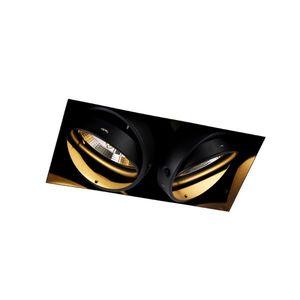 Zapuštěné bodové černé 2žárové GU10 AR111 Trimless - Oneon obraz