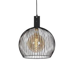 Designová závěsná lampa černá 40 cm - Wire Dos obraz