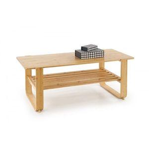 Halmar Konferenční stolek Spody bambusové dřevo obraz