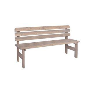 Tradgard VIKING 54623 Zahradní dřevěná masivní lavice šedá - 150 cm obraz