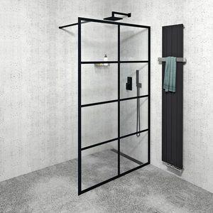 GELCO CURE BLACK sprchová zástěna 1200mm, černá mat CB120 obraz