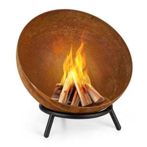 Blumfeldt Fireball Rust, ohniště, 60 cm Ø, výklopný rošt, rezavý vzhled obraz