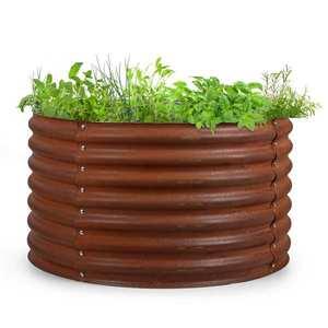 Blumfeldt Rust Grow, vyvýšený záhon, zahradní záhon, pozinkovaný ocelový plech, rezavá úprava obraz