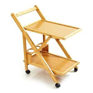Blumfeldt Servírovací vozík, 3 police, 4 kolečka, 66 x 70 x 40, 5 cm (Š x V x H), bambus obraz