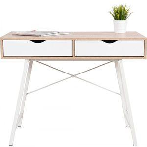 Tutumi Psací stůl Felix bílý/hnědý obraz