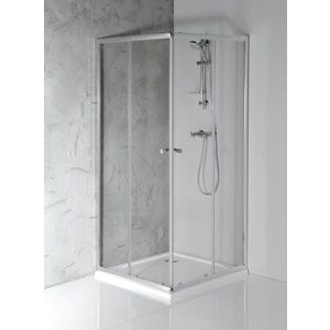 AQUALINE AGGA čtvercová sprchová zástěna 900x900mm, čiré sklo HLF909 obraz