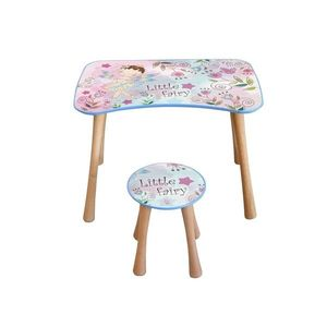Dětský stolek se stoličkou Květinová víla, 65 x 41 x 47 cm obraz